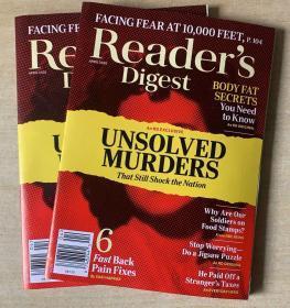 美国版 READER'S DIGEST 读者文摘2020年4月 英文生活类杂志