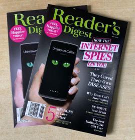 美国版 READER'S DIGEST 读者文摘2020年5月 英文生活类杂志