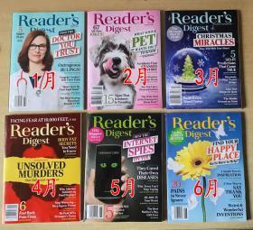 美国版 READER'S DIGEST 读者文摘2020年1-6月 6本打包英文生活类杂志