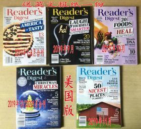 美国版READER'S DIGEST读者文摘2019年7+9+10+11+12月 5本英文杂志