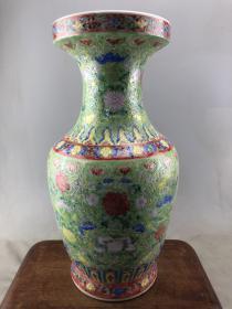 珐琅彩花卉大瓷瓶B3772.