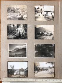 民国抗战时期日本鬼子洗澡、行进、庐山风景等老照片8张