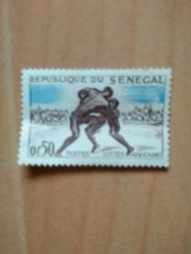 外国邮票:摔蛟(未使用)