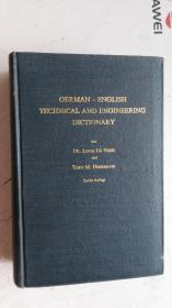 英文版 GERMA-ENGLISH TECHNICAL AND ENGINEERING DICTIONARY 德语-英语技术与工程词典 第2版