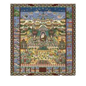 观经变相图 东林寺铜版纸印刷 尺寸680*874 免费高清佛像结缘