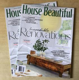 美国版 House Beautiful 美丽家居2020年1-2月英文版建筑设计杂志