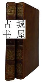 稀缺版《  西班牙的历史,从最早到1809年 》2卷集, 约1811年出版,精装