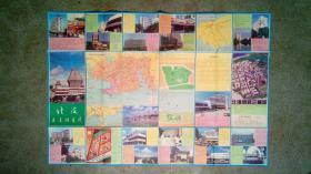 旧地图-北海交通游览图(1993年5月1版2印)2开8品