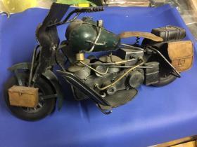 军用老摩托车模型