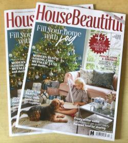 英国版 House Beautiful 美丽家居2019年12月2020年1月 英文建筑设计杂志