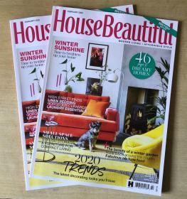 英国版 House Beautiful 美丽家居2020年2月 英文建筑设计杂志