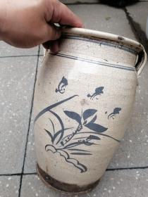宋金老窑四系瓷罐,高31,口18.5。直径大约21