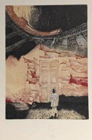 白俄罗斯伊万·卢萨切克Ivan Rusachek 版画藏书票原作5 精品收藏