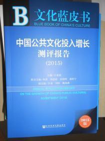 中国公共文化投入增长测评报告(2015)