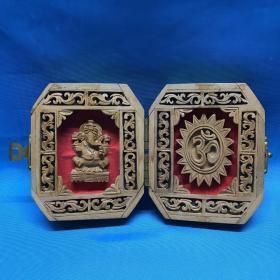 印度檀香木手工雕刻 印度神像 像头神 (有很香的檀香味)