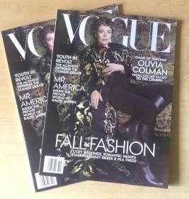 美国版 VOGUE 2019年10月科尔曼Olivia Colman 英文时尚潮流杂志