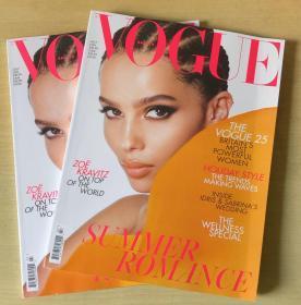 英国版 vogue2019年7月Zoë Kravitz 女性时尚服饰趋势英文杂志