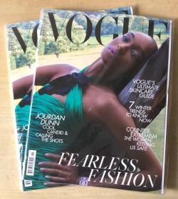 英国版 VOGUE2019年11月卓丹·邓 Jourdan Dunn 时尚服装英文杂志
