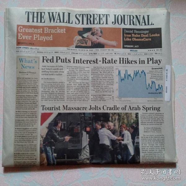 THE WALL STREET JOURNAL 华尔街日报 2015/03/19  外文原版报纸