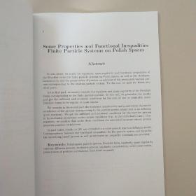 北京师范大学博士学位论文:PoIish 空间上一类有限粒子系统的若干性质和泛函不等式