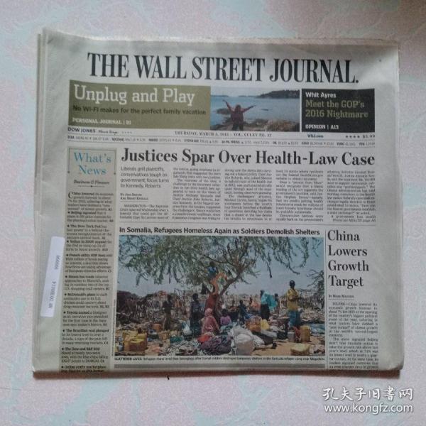 THE WALL STREET JOURNAL 华尔街日报 2015/03/05  外文原版报纸