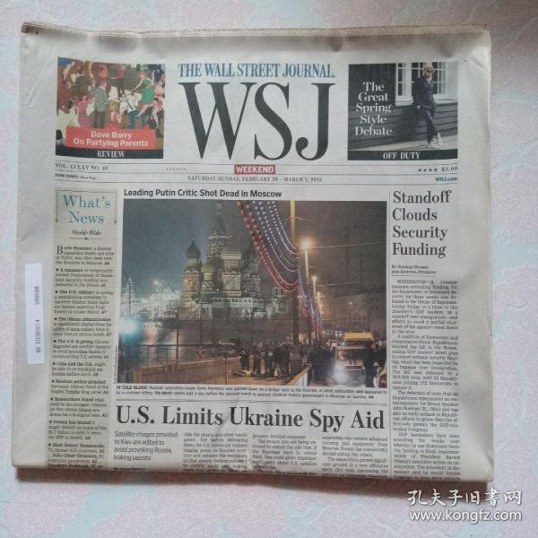 THE WALL STREET JOURNAL 华尔街日报 2015/02/28-03/01  WSJ 周末版 外文原版报纸