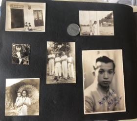 民国时期 勷勤大学学生旧藏 旗袍美女、男青年等人在香港、广东等地游玩合影等老照片一册154枚