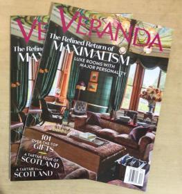 美国版 VERANDA 2019年12月 英文室内建筑设计杂志
