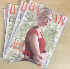英国版 HARPER`S BAZAAR芭莎2019年1月 英文时尚女士服装杂志
