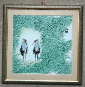 陶瓷名家 万济宁 先生  精美花鸟瓷板画