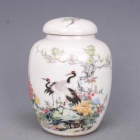 大型瓷器瓷器罐子高12厘米