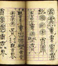 民国道家起水化水符咒书-关请-用阳卦起阴卦演-止血诀法一则