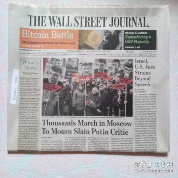THE WALL STREET JOURNAL 华尔街日报 2015/03/02  外文原版报纸