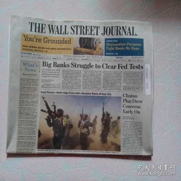 THE WALL STREET JOURNAL 华尔街日报 2015/03/12   外文原版报纸
