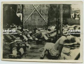 民国三十年代末期淞沪抗战时期的日军轰炸上海市区,造成大量平民身亡,横尸街头老照片