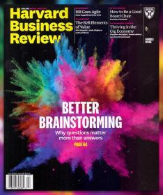 Harvard Business Review哈佛商业评论2018年3-4月合刊英文版杂志