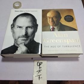 The Age of Turbulence:Adventures in a New World》《Steve JobS by WaIter ISaaCSon》两本人物传记合售
