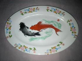 陶瓷盘  双鱼盘