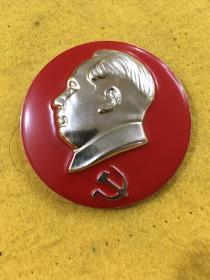 毛主席像章-党徽