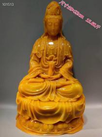 寿山石精雕观音大摆件一个,雕工精美,石质温润细腻,成色如图dz邮费自理