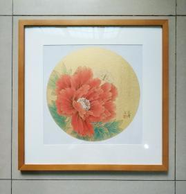 著名青年画家宋涛老师精品之作,带框,有合影