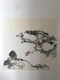 刘大石 绘 问梅消息图
