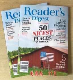 美国版 READER'S DIGEST 读者文摘2019年11月 英文生活类杂志