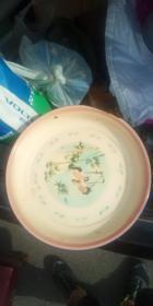 1965年   鹤和竹子  搪瓷盘