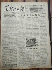 老报纸黑龙江日报1956年4月20日(4开四版) 哈市将推广大批基本建设先进经验; 建设新西藏;