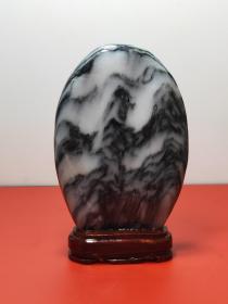 ❤精品招财天然原石摆件(kkaawh) 规格:18/11.5cm 重量:840g 精品云南天然大理国画石。带底座,喜欢的老铁不要错过了。