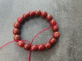 南红老型珠手串