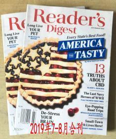 美国版 READER'S DIGEST 读者文摘2019年7/8月合刊英文版生活杂志