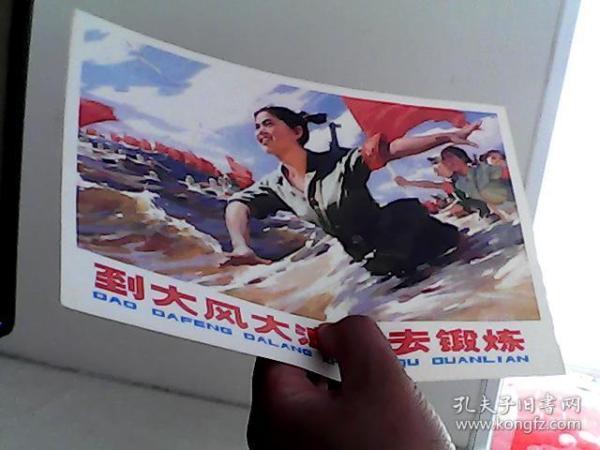 16开宣传画 到大风大浪中去锻炼【代售】