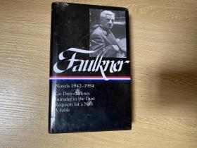 (新书包塑封)Faulkner: Go Down,Moses,Intruder in the Dust,Requiem for a Nun,A Fable,福克纳集:《去吧,摩西》、《坟墓的闯入者》、《修女安魂曲》 、《寓言》。权威的美国文库版,布面精装